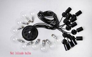 Image 4 - Люстра в стиле ретро, современные белые/черные люстры с 6 16 рычагами, Регулируемая лампа Эдисона E27, Арт, потолочный светильник паук