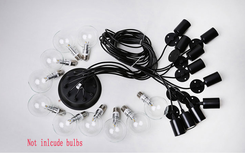 Image 4 - LOFT Modern White/Black Lustre chandeliers 6 16 Arms Retro Adjustable Edison Bulb Lamp E27 Art Spider Ceiling luminaire Fixture-in Chandeliers from Lights & Lighting