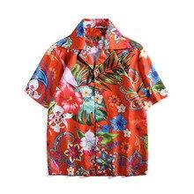 New arrival mens floral print Shirts hAWAII style short sleeves shirts A345