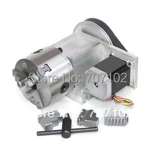 Rotary Axis K11 100 MM Mandril 3 mandíbula relación De Reducción de Velocidad 8:1 CNC Router Rotación Axis Axis Un cuarto eje para el grabado máquina