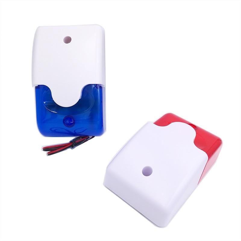 HH-103 Mini Strobe Siren Indicator Light Sound Alarm Lamp Flashing Light Red 12V 24V 220V Wired 110DB