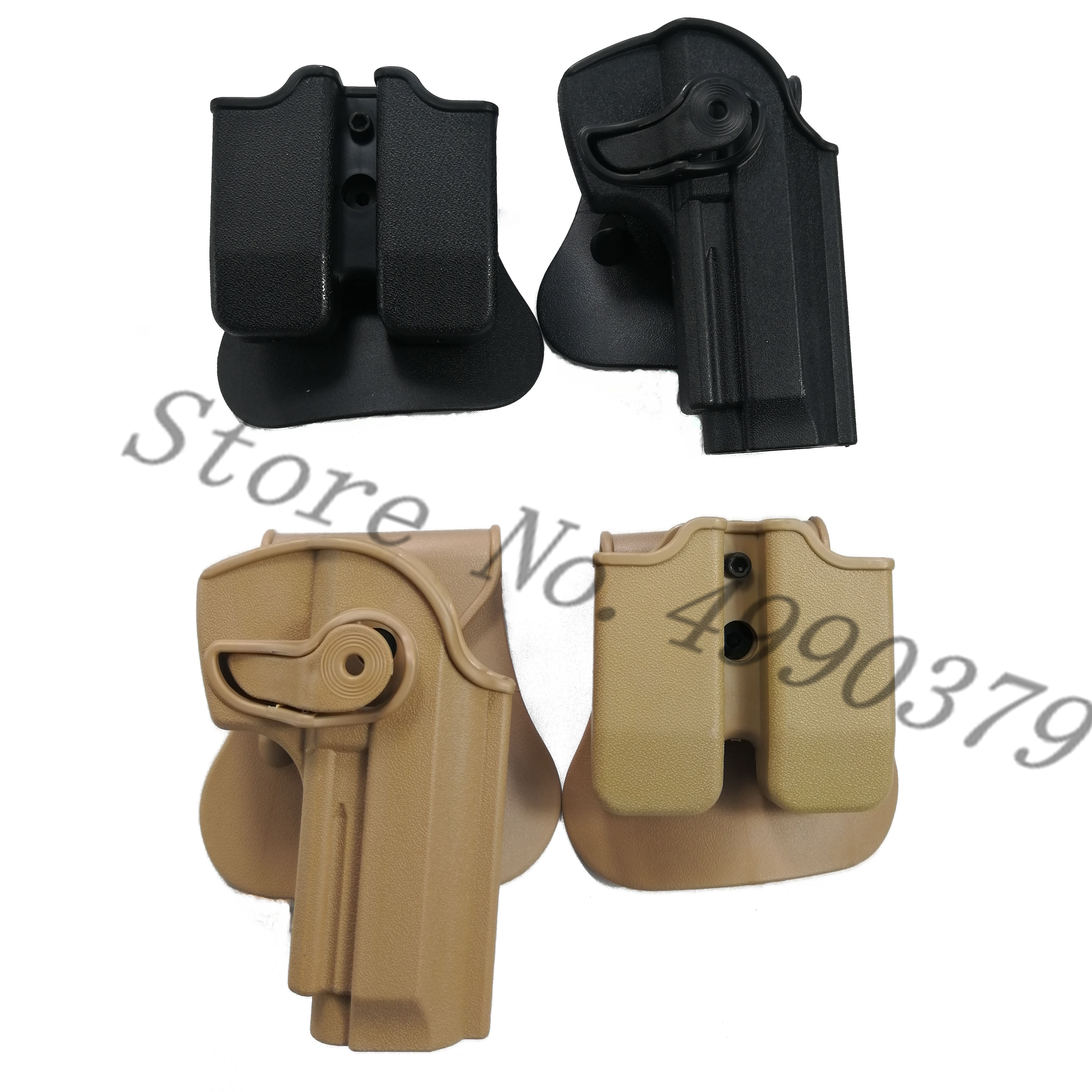 Image 2 - M9 Holster Tactical IMI Right Hand BERETTA M92 Holster Paddle Pistol Gun Holster Gun Airsoft Case Hunting Accessories-in Holsters from Sports & Entertainment