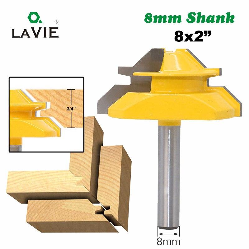 LA VIE 1 pz 8mm Shank 45 Gradi Da Infilare Tenone Coltello Medio Blocco Mitra Router Bit 3/4