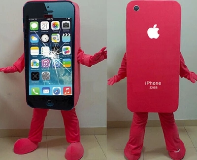 2014Hot sale Mascot Costume Cell Phone Apple iPhone 5C Adult Size