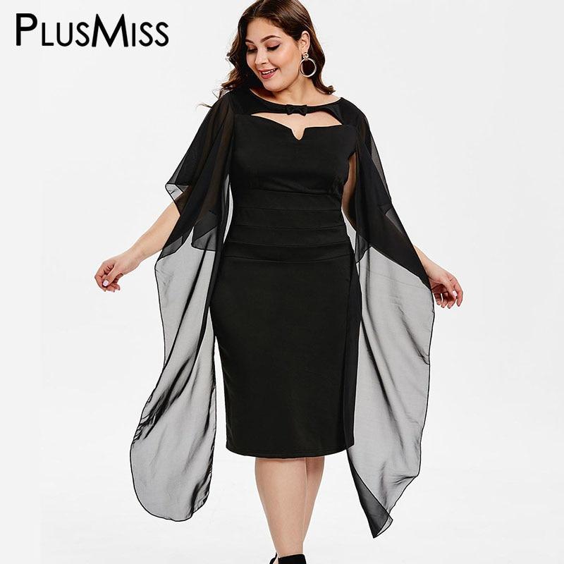 50485bdda4f5 Cheap PlusMiss talla grande XXXL elegante gasa chal vestidos de fiesta mujer  ropa bata XXXXL XXXL