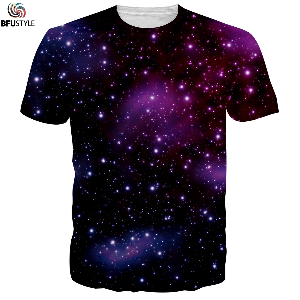 3d printed summer casual short sleeve t shirts tees 2017 for Galaxy white t shirts wholesale