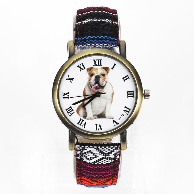 Women's Bulldog Printed Watch