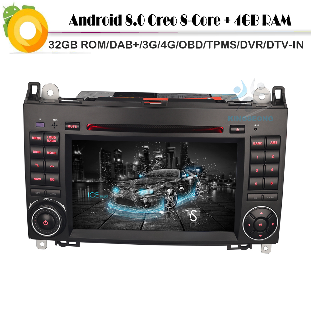 DAB+ Android 8.0 4G RAM Sat Navi Car DVD player FOR VW Crafter seit 2006 WiFi 4G GPS CD Radio RDS BT USB SD DVR DTV-IN Bluetooth