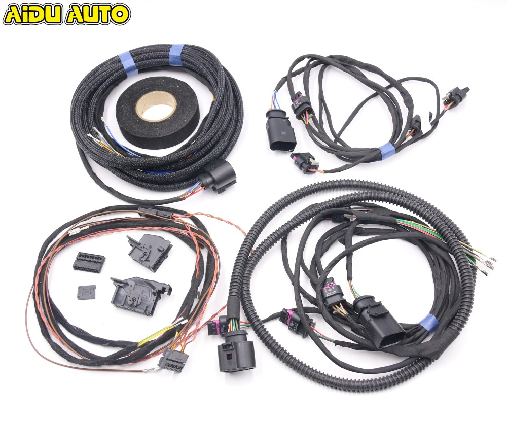 Parking Front and Rear 8K PDC OPS Install Harness cable wire For Audi A3 8V parking front and rear 8k pdc ops harness cable wire kit for vw golf 5 6 passat b6 touran jetta mk5 mk6 skoda octavia polo