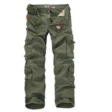 2017 Mens Military Cargohose multitaschen Baggy Männer Baumwollhosen Beiläufige Overalls Armee Oustdoor Tactical Hose keine gürtel 46