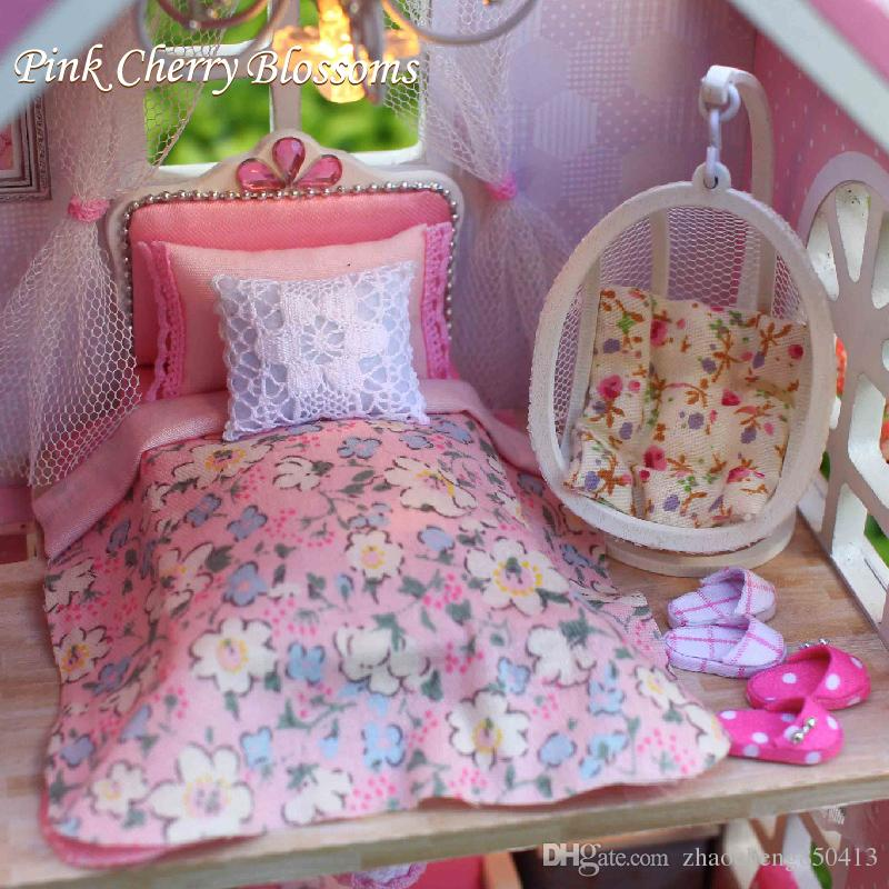 Сыйлықтар Жаңа бренд DIY Doll үйлері Wooden - Қуыршақтар мен керек-жарақтар - фото 5