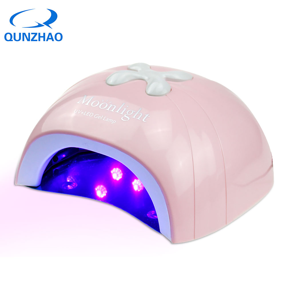 New Arrival Pink UV LED 48W Nail Lamp With Fan Nail Dryer For Gel Nails UV Led Lamp Dryer Time Setting Lamp Sensor Equipment new professional dc 12v 2a 24w uv led nail lamp nail dryer unique design intelligent induction three setting buttons an adapter
