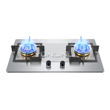 Household Gas Stove Embedded and Table Type Dual Use Gas Stove Stainless Steel Double-burner Gas Furnace JZT-GZ451 цена и фото