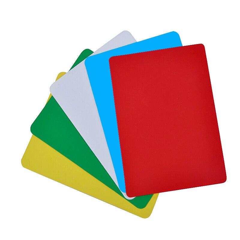 10/50/100 Uds. Tarjetas de plástico en blanco de 7 colores PVC DIY cartas de juego 86*54mm cartas de póker Creativa tazas plásticas para bebidas niños lavar tazas oso patito agua tazas de aprendizaje cepillado de beber de la taza baño bebiendo utensilios