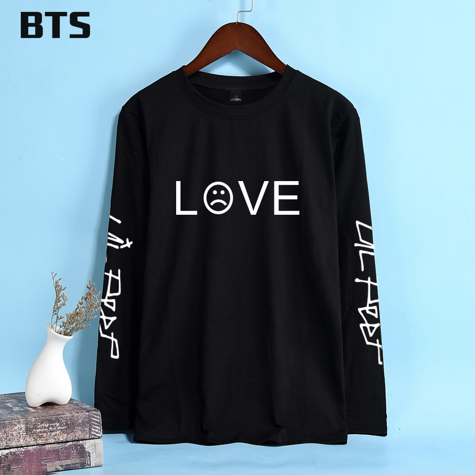 BTS Lil Peep Korean T Shirt Women Long Sleeve