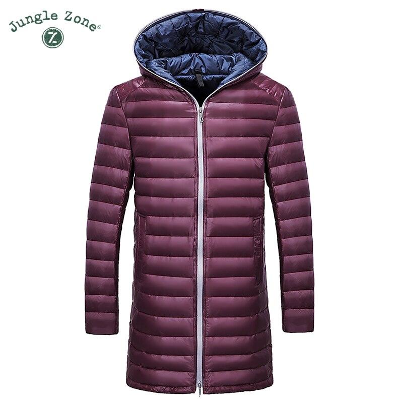 2016 Winter Warm Down Jacket ultralight high-quality <font><b>white</b></font> duck down long overcoats men