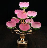 Красочные стекло лотоса лампы сделать стеклянный подсвечник gongdeng подсвечник suyoudeng кадра.