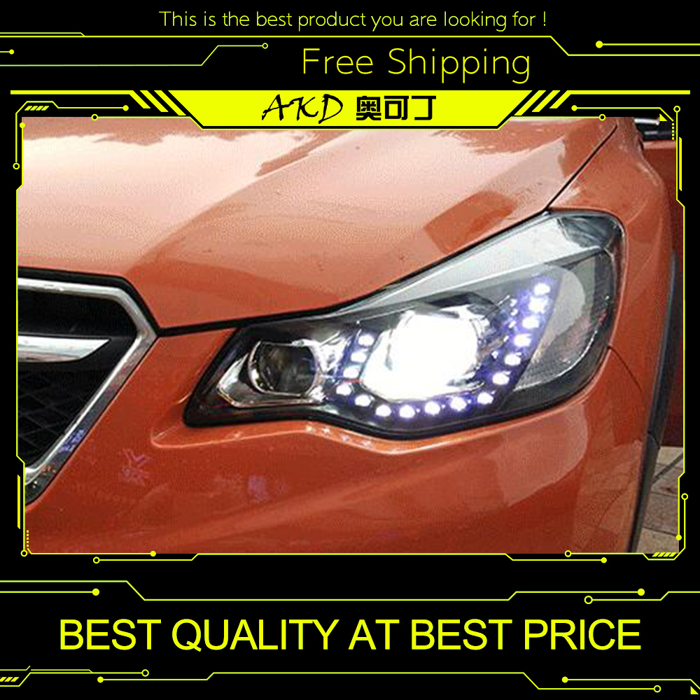 AKD Car Styling for XV Headlights 2012 2015 XV LED Headlight LED DRL Bi Xenon Lens