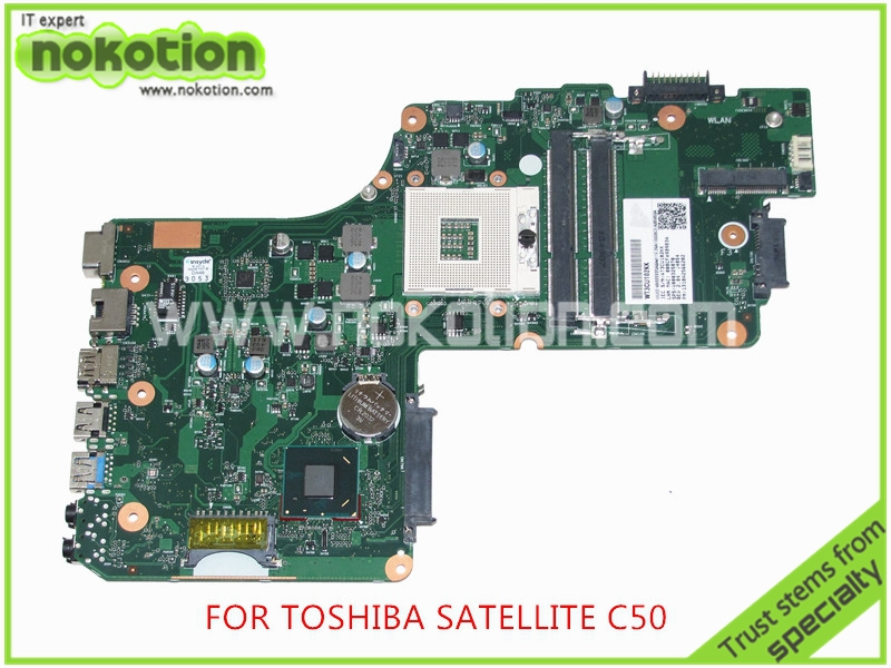 NOKOTION SPS V000325070 DB10F-6050A2566201-MB-A02 For <font><b>toshiba</b></font> <font><b>satellite</b></font> <font><b>C55</b></font> C55T laptop <font><b>motherboard</b></font> HM77 image