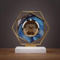 Европейская творческая гостиная настольные часы Аксессуары Главная спальня прикроватные часы настольные украшения
