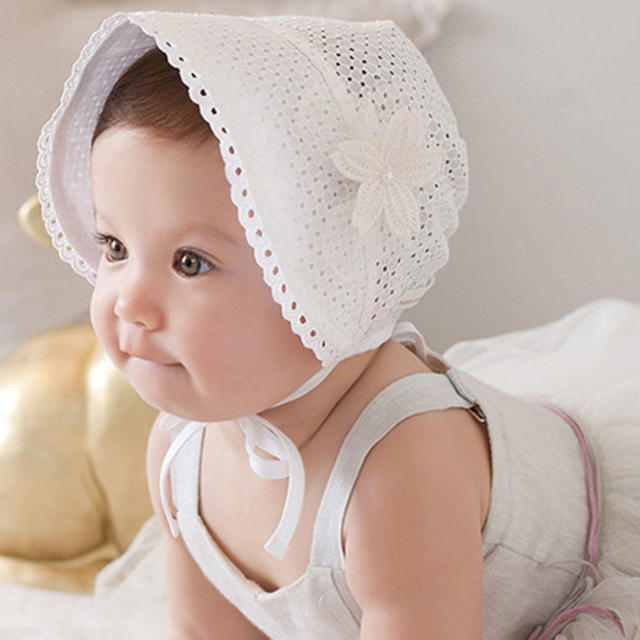 Baby Hat Newborn Photography Accessories Sweet Lovely Cute Princess  Children Kids Girls Baby Hat White Pink Lace Floral Caps 6361ee6aeb0
