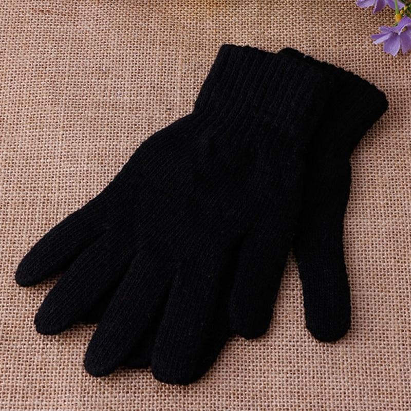 2017 Men Women Winter Full Finger Warm Mitten Gloves