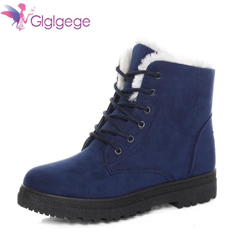 Glglgege New Warm Snow Boots Flat Heels Winter Boots New Arrival Women Ankle Boots Women Shoes Warm Fur Plush Insole Shoe Woman new 2015 original warm snow boots women plush winter ankle boots comfortable lady flame design casual australia flat shoes