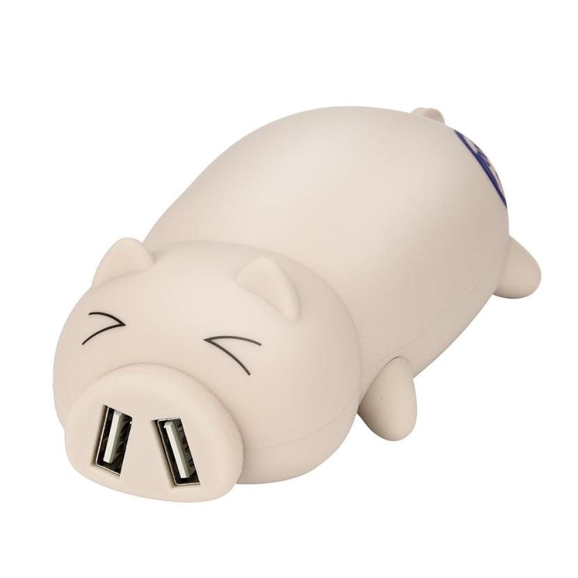 Adorable Piggy Animal Design Dual USB Port Portable Battery Power Bank 10000mAh For Iphone Backup Battery lovely Decorations original romoss polymos 10 air 10000mah dual usb li polymer power bank