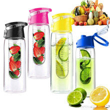 Hot 700ML Cycling Sport Fruit infuser infusing Water Bottle Sports Fitness Health Lemon Juice cup Camping mug Eco-Friendly BPA