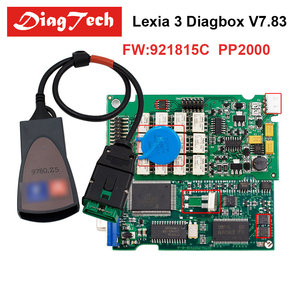 Latest Lexia 3 PP2000 Diagbox V7.83 with Firmware 921815C V48/V25 Lexia 3 Lexia-3 For Citroen Peugeot OBD2 Diagnostic-tool все цены