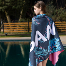 SANTOแห้งเร็วBeachผ้าเช็ดตัวผ้าเช็ดตัวไมโครไฟเบอร์Magic Soft Lint Ecofriendlyผ้าCampingสบายว่ายน้ำ4สี