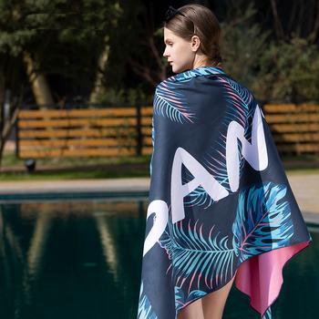 SANTO szybkoschnący ręcznik plażowy mikrofibra magia miękka Lint Ecofriendly Cloth Camping wygodne piesze wycieczki pływanie 4 kolory tanie i dobre opinie Gładkie barwione Poliester bawełna Quick-dry Rapid Water Absorption Delicate Skin