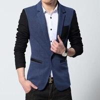 Outono casaco Estilo de Negócios de Luxo Homens Blazers Terno Ocasional Set Profissional Vestido de Casamento Formal Projeto Bonito Plus Size M-5XL