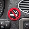 3 unid Muestra de NO FUMADORES De Goma Consejos Advertencia Logo Pegatinas de Coches Taxi Puerta Promoción Badge Decal Etiqueta Engomada Del Pegamento