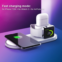 High Quality Wireless Charger For iPhone 8 X Xr XS 3 in 1 Wireless Charger Dock Station For Apple Watch 1 2 3 4 Airpods 3 in 1 magnetic phone charger for iphone x s max xr 8 7 wireless charger for apple watch 2 3 4 airpods charging dock station
