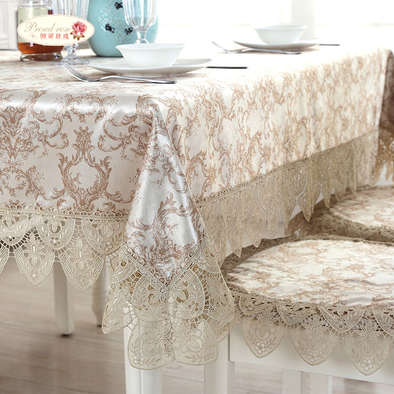 Proud Rose European High End Lace Tablecloth Table Flag Household TV  Cabinet Dustproof Cloth Home Decor Table Cloth Chair Cover