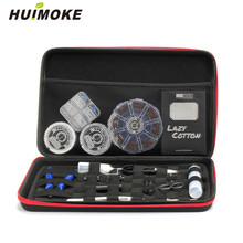 All In One Electronic Cigarette Tools Bag Case For Packing Atomizer e Liquid Coil Wire e Cig Cotton Tweezer Jig Coil Master Bag e xy flat coil wire 120mm heating wire electronic cigarette 10pcs in a tube for vapor vape rda rta premade resistance wire