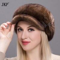 2017 hot Fashion Women Fur Beanies Genuine Winter Hats Genuine Mink Fur Parts Caps Warm Winter Real Mink Winter Hat DHY17 15