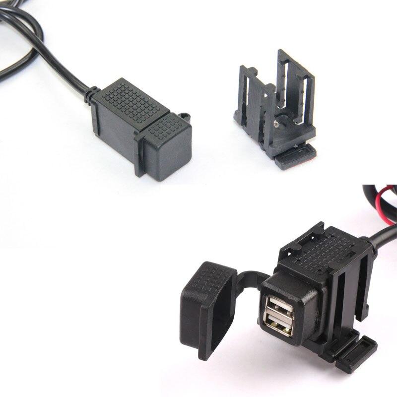 Waterproof Motorcycle Dual 2.1A USB <font><b>Charger</b></font> for <font><b>Cell</b></font> <font><b>Phone</b></font> Power Socket <font><b>Charger</b></font> Outlet with Handlebar Clamp