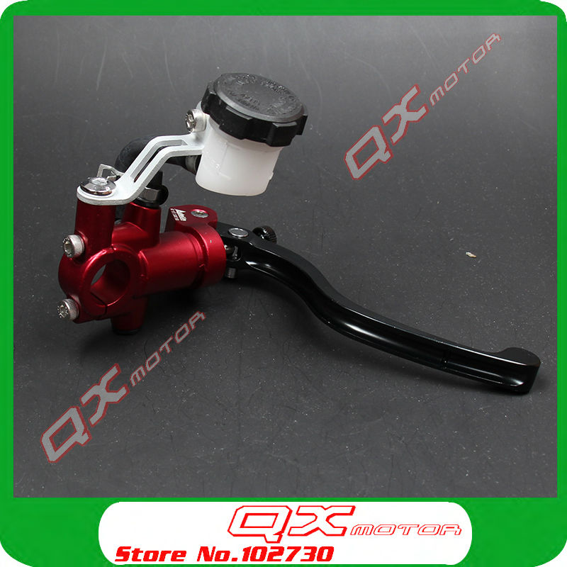 Motorcycle Hydraulic Brake Cylinder Master Lever For CRF YZF RMZ KXF Dirt Bike Motocross ATV Quad Scooter Off Road Modify motocross dirt bike enduro off road wheel rim spoke shrouds skins covers for yamaha yzf r6 2005 2006 2007 2008 2009 2010 2011 20