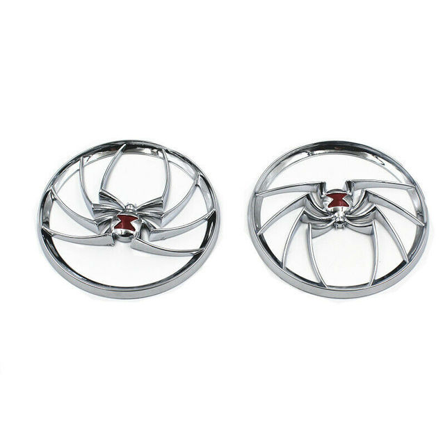 Motorcycle Chrome Spider Speaker Grills Cover For Harley