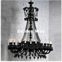 Free Shipping Black Chandelier Light Modern Crystal Chandelier LED Crystal Light Black Crystal Lighting Living Room