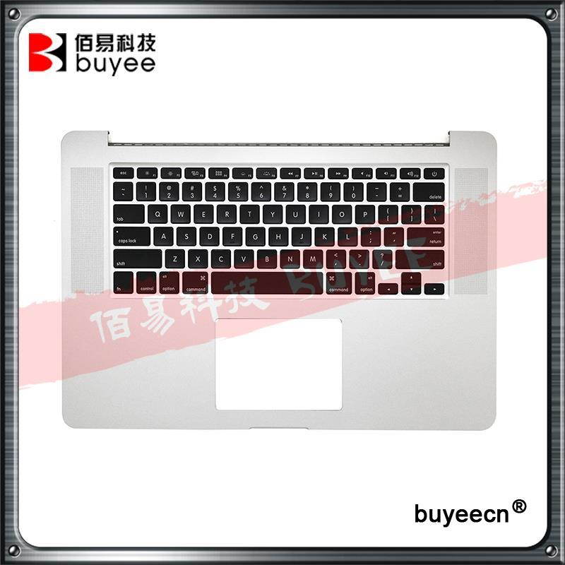 Original New 2015 A1398 Palmrest Keyboard For Macbook Pro Retina 15.4'' A1398 Top Case Cover US Keyboard Backlight Replacement original new a1398 palmrest english verision 2012 for macbook pro retina 15 a1398 upper top case cover uk layout replacement