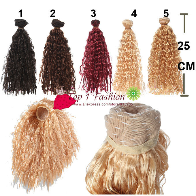 5 pieces/lot bjd hair 25cm*100CM small imitationwoollen curl brown black doll wigs hair for OB SD for 1/3 1/4 BJD DIY doll hair wigs for 1 3 1 4 1 6 bjd wigs high temperature wire fashion curly hair piece for bjd sd dollfie 1pcs 25cm 100cm