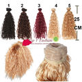 5 pieces/lot bjd hair 25cm*100CM small imitationwoollen curl  brown black doll wigs hair for OB SD for  1/3 1/4 BJD DIY