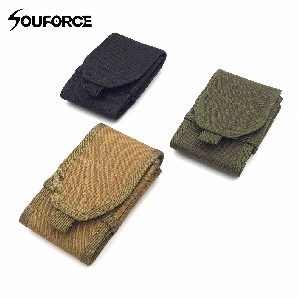 Light Portable Tactical Open Top Mag Magazine Clip Pouch Military Tactical Hunting Bag Can Hold 6 inch Phone