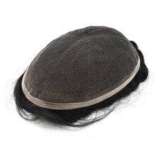 Eversilky набор тушей с парик швейцврское кружево волос для Для мужчин 8x10 дюймов различных Цвет натуральные человеческие волосы Remy парик из натуральных волос парики
