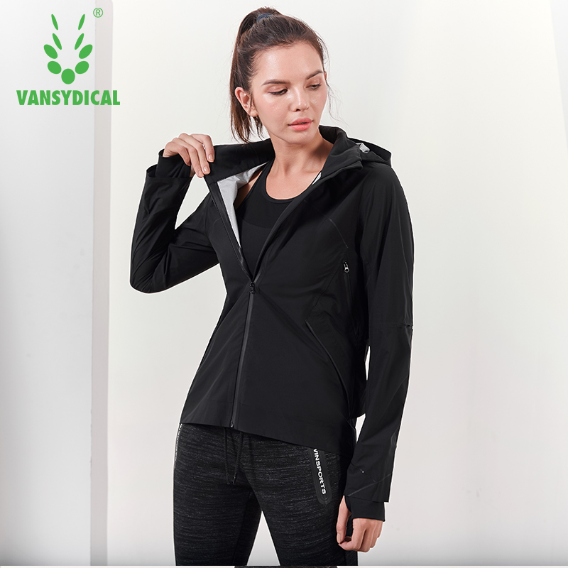 Women Hooded running jacket Long Sleeve Sweatshirt Ladies Yoga Sports Zipper Jacket Fitness Gym Shirts Women's Dropship