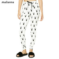 Malianna 2017 Fashion New Arrival Women Ankle Length Deer Head Print Comfortable Slim Fit Leggings Casual