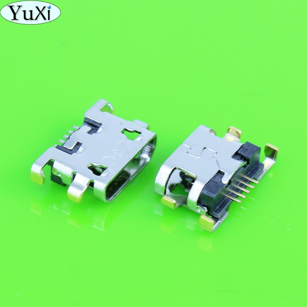 YuXi Micro USB Jack Charging Socket Connector For ZTE V815W For Lenovo A798T A590 A808 A706T For Alcatel Micro USB Power Port
